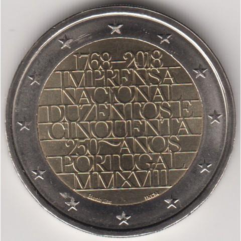 "2018. 2 Euros Portugal ""Imprenta"""