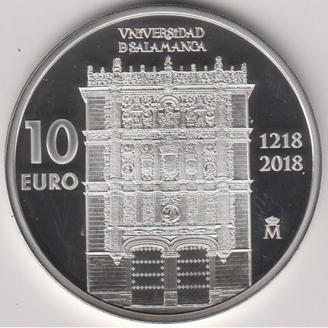 2018. 800 Años Universidad Salamanca. 10 euros