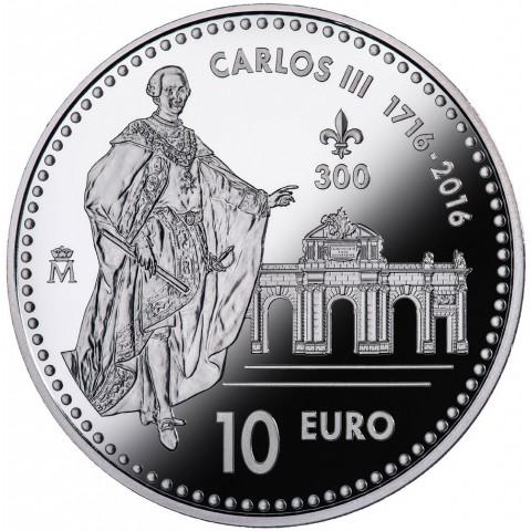2016. III Centenario Carlos III. 10 euros