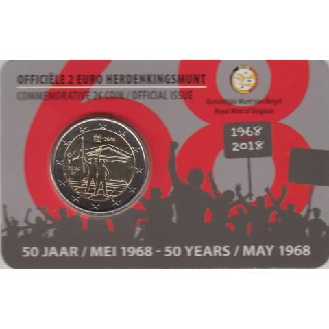 """2018. 2 Euros Bélgica """"Mayo del 68"""""""