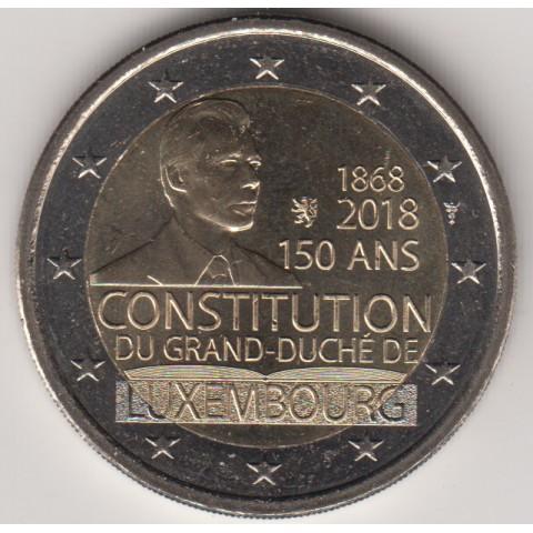 """2018. 2 Euros Luxemburgo """"Constitución"""""""