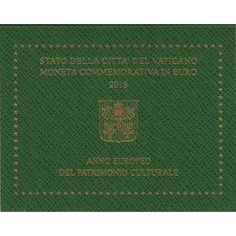"2018. 2 Euros Vaticano ""Patrimonio Cultural"""