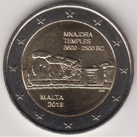 """2018. 2 Euros Malta """"Templo Mnajdra"""""""