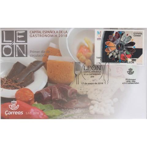 2018. Sobre matasellado Capital Gastronomía León. Primer Día