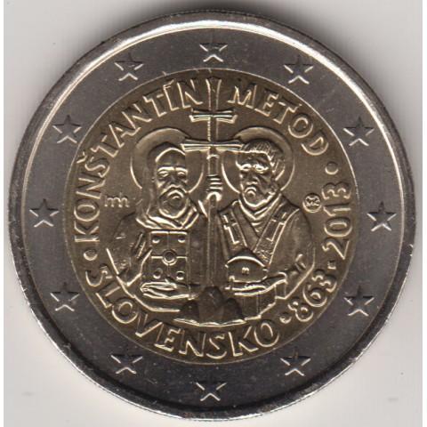 """2013. 2 Euros Eslovaquia """"Cirilo y Metodio"""""""