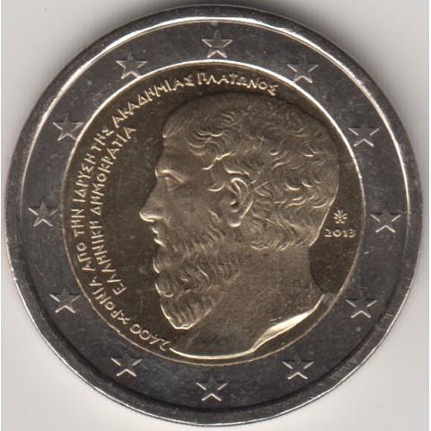 """2013. 2 Euros Grecia """"Academia Platón"""""""