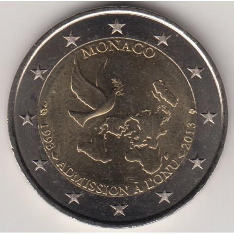 "2013. 2 Euros Mónaco ""ONU"""