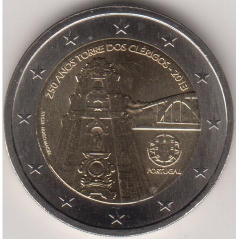 """2013. 2 Euros Portugal """"Torre Clérigos"""""""