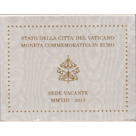 """2013. 2 Euros Vaticano """"Sede Vacante"""""""