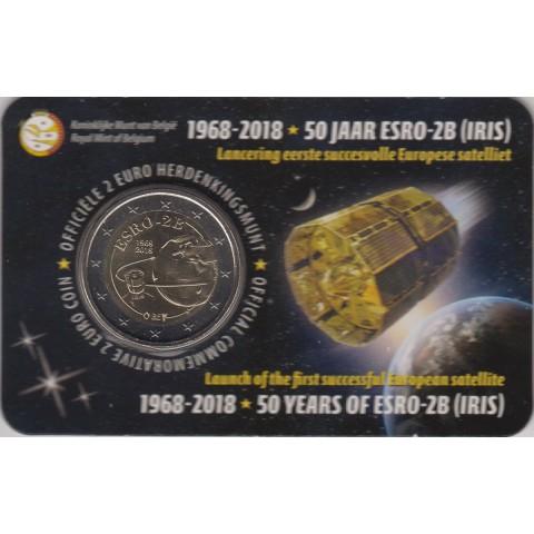 "2018. 2 Euros Bélgica ""Satélite"""