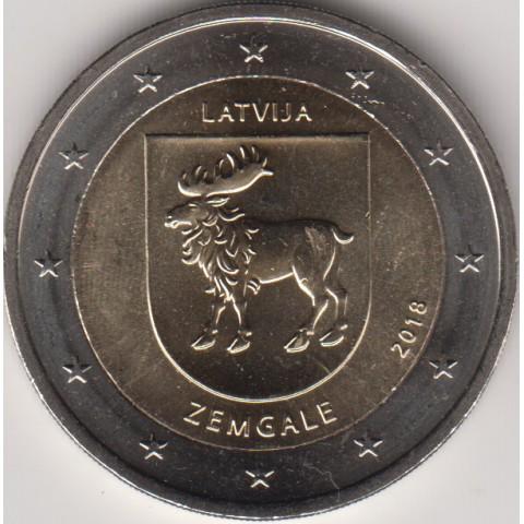 """2018. 2 Euros Letonia """"Zemgale"""""""