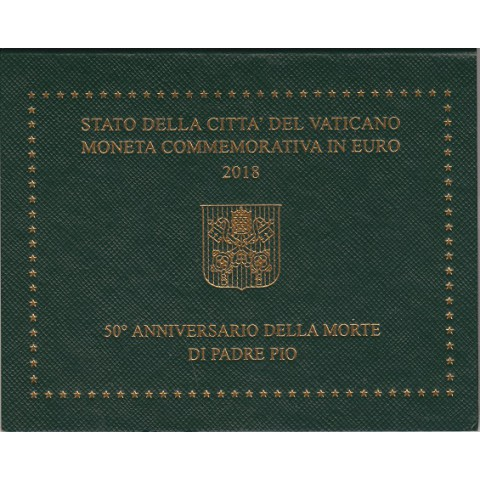 "2018. 2 Euros Vaticano ""Padre Pío"""