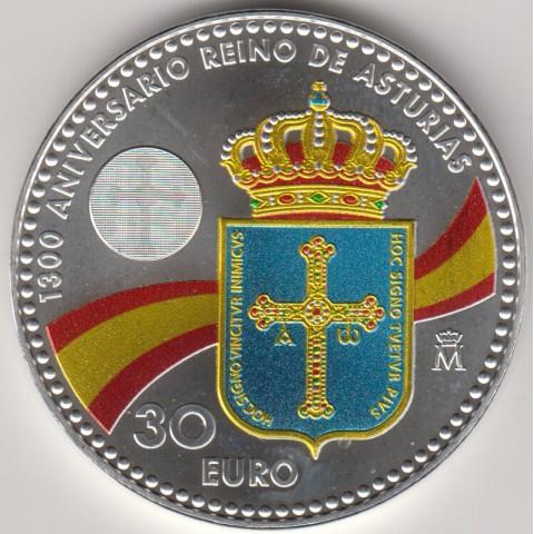 "2018. 30 Euros España ""Asturias"""