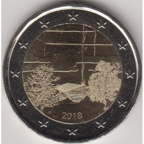 """2018. 2 Euros Finlandia """"Sauna"""""""