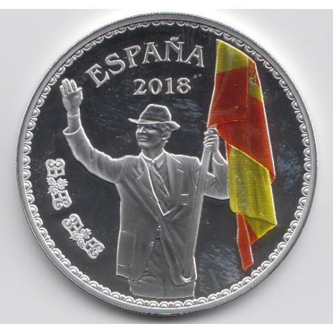 """2018. 50 Aniv. Felipe VI. 10 euros """"Abanderado"""""""