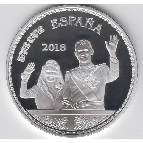 """2018. 50 Aniv. Felipe VI. 10 euros """"Balcón"""""""