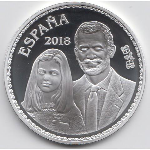 """2018. 50 Aniv. Felipe VI. 10 euros """"Leonor"""""""