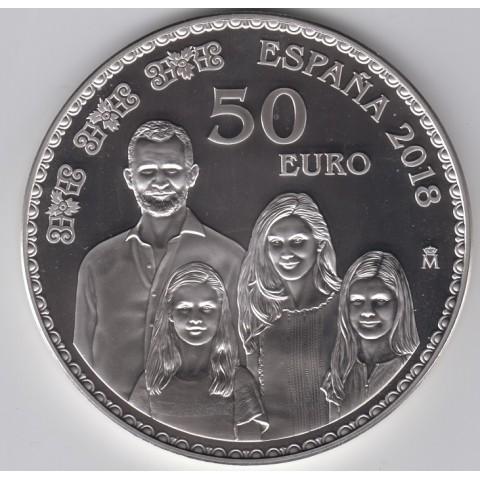 2018. 50 Aniv. Felipe VI. 50 euros