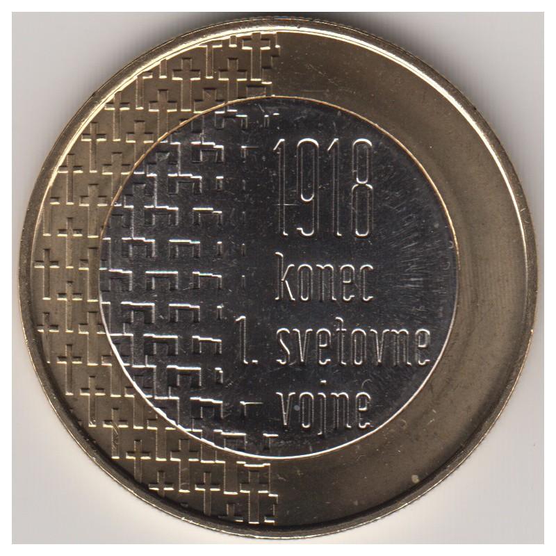 """2018. 3 Euros Eslovenia """"Centenario Guerra Mundial"""""""