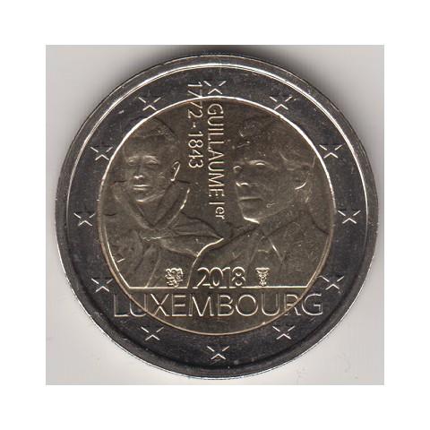 "2018. 2 euros Luxemburgo ""Guillermo"""