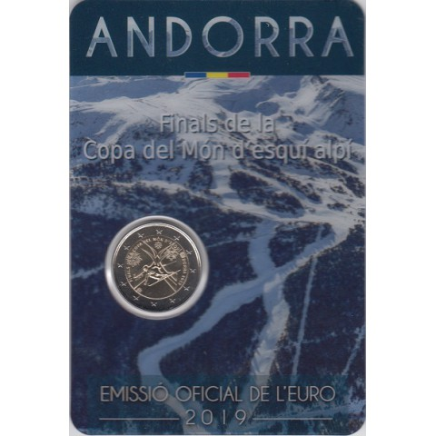 """2019. 2 Euros Andorra """"Esqui"""""""