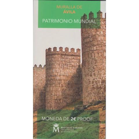 """2019. 2 euros España """"Muralla"""" proof"""