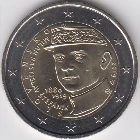 "2019. 2 Euros Eslovaquia ""Stefanik"""