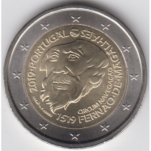 "2019. 2 Euros Portugal ""Magallanes"""