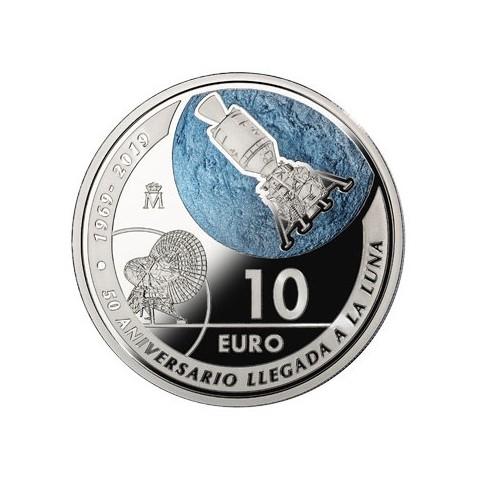 2019. 50 Aniv. llegada hombre a la luna. 10 euros