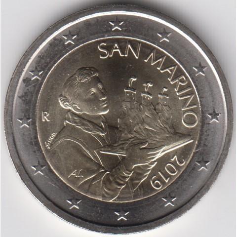 """2019. 2 Euros San Marino. """"Santo Marino"""""""