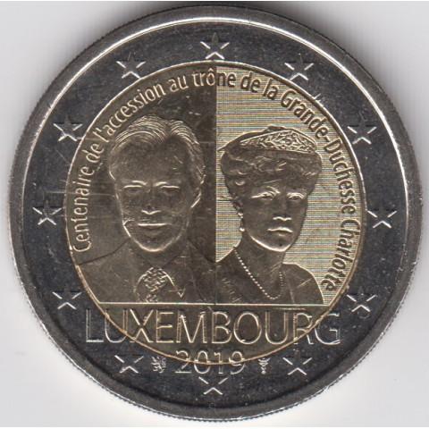 "2019. 2 Euros Luxemburgo ""Charlotte"""