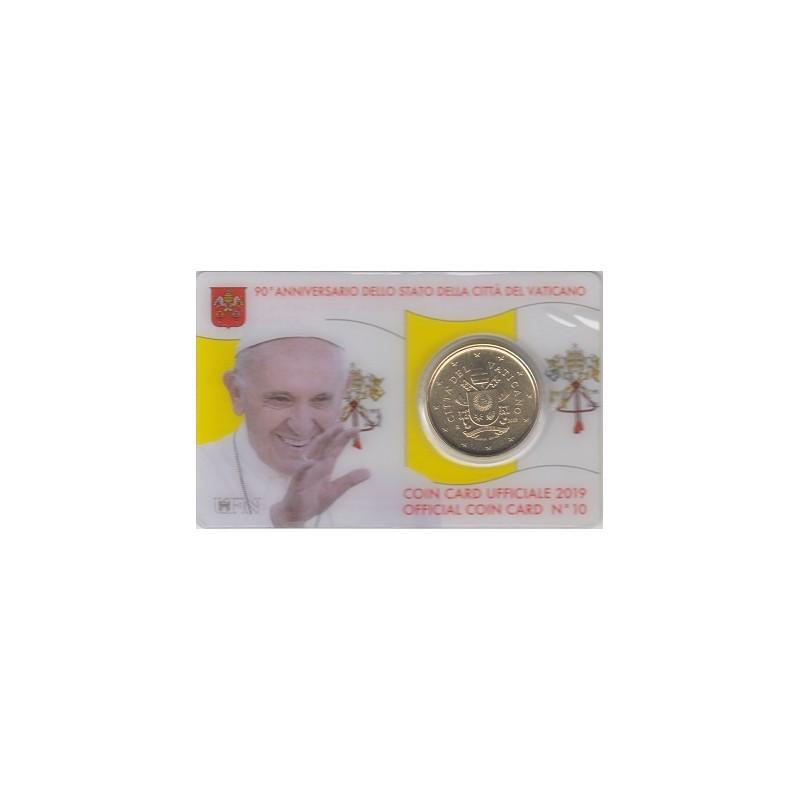 2019. coin card vaticano 50 ctms