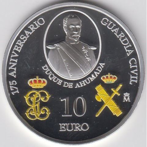 2019. 175º Aniversario Guardia Civil. 10 euros
