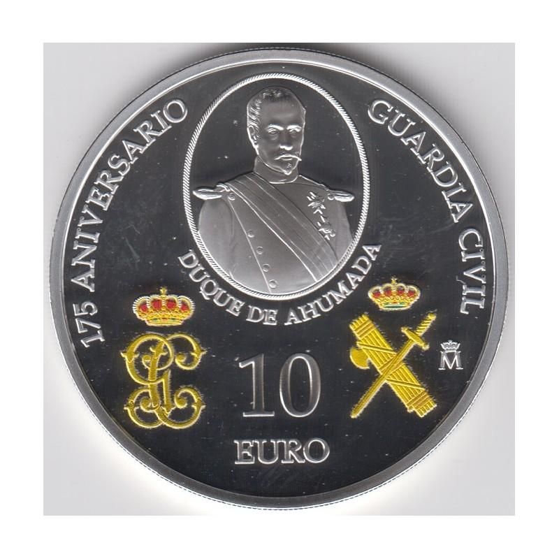 2019. 175º Aniversario Guardia Civil. 10 euros