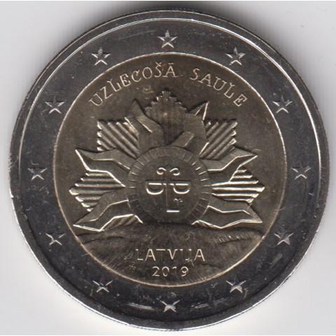 "2019. 2 Euros Letonia ""Sol Naciente"""
