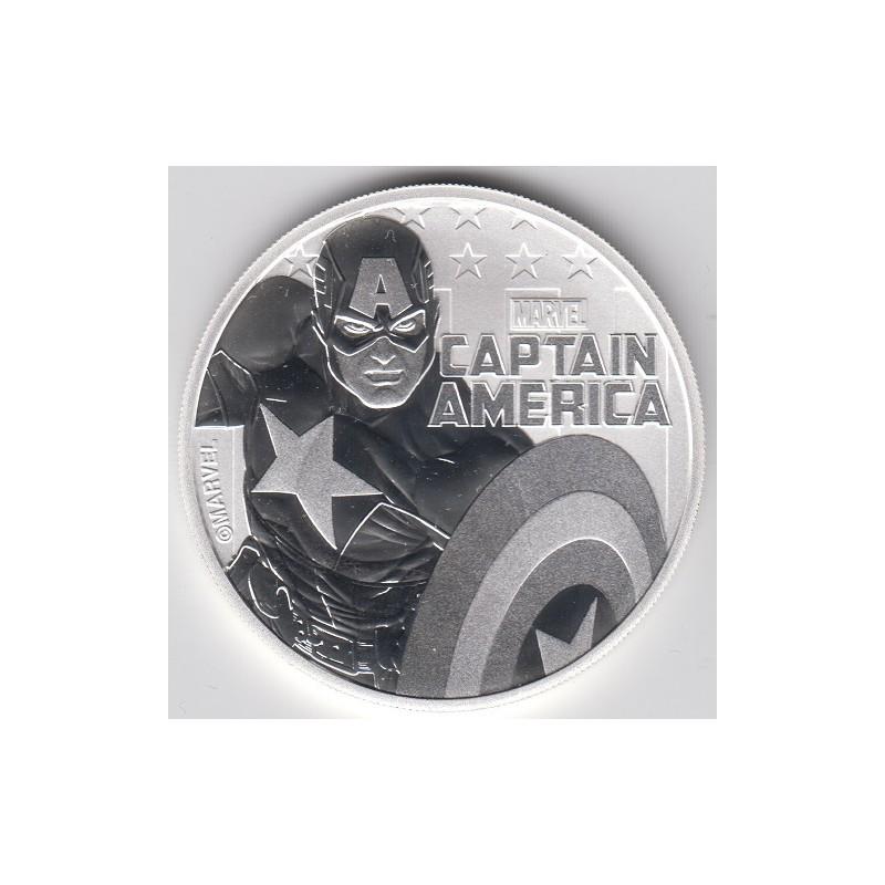2019. Onza Tuvalu. Capitán América