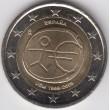 """2009. 2 Euros España """"EMU"""" Estrellas grandes"""