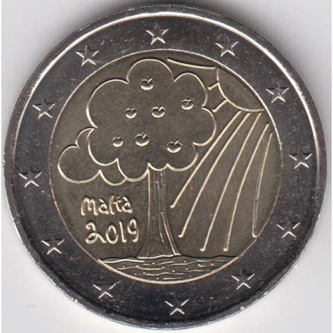 """2019. 2 Euros Malta """"Naturaleza"""""""