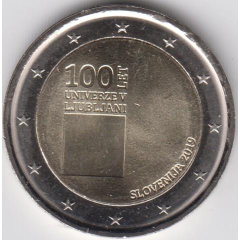 """2019. 2 Euros Eslovenia """"Universidad Ljubljana"""
