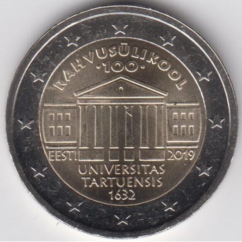 """2019. 2 Euros Estonia """"Universidad Tartu"""""""