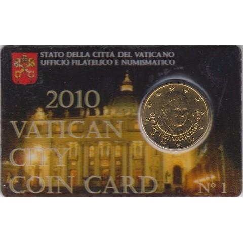 2010. Coin Card Vaticano 50 Ctms