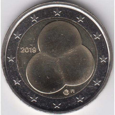 """2019. 2 Euros Finlandia """"Constitución"""""""