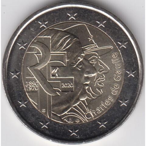 """2020. 2 Euros Francia """"Gaulle"""""""