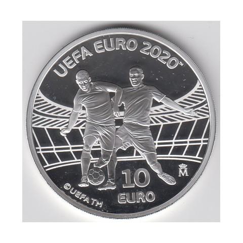 2020. Eurocopa 2020. 10 euros