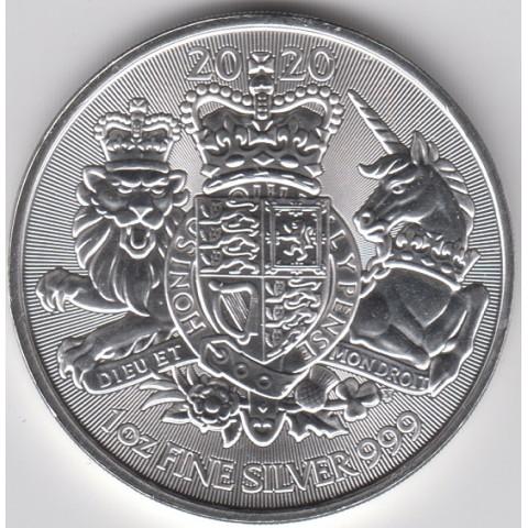 2020. Onza Britania.Royal Arms