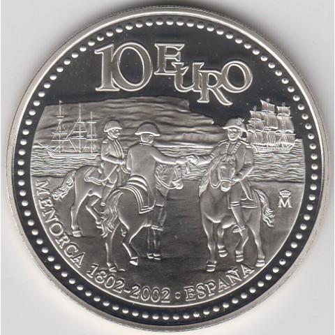 2002. Incorporación de Menorca a la Corona Española. 10 euros