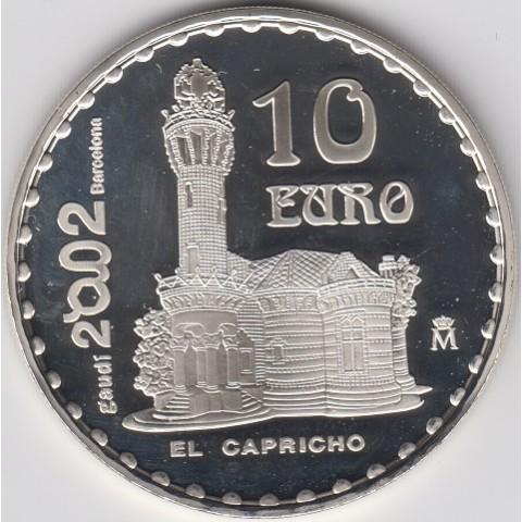 """2002. Año Internacional Gaudí. 10 euros """"El Capricho"""""""