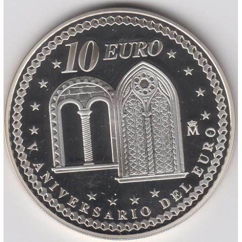 """2007. V Aniversario euro. 10 euros """"Liberalismo"""""""
