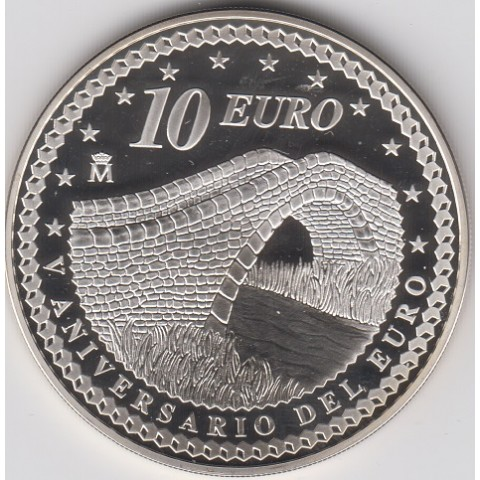 """2007. V Aniversario euro. 10 euros """"Unión"""""""