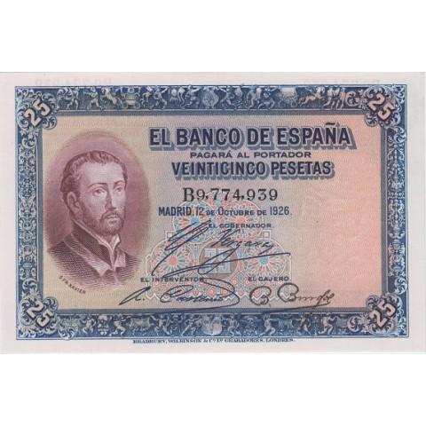 1926. 25 Ptas San Francisco Javier